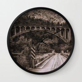 Dog Creek and Fenders Ferry Bridges Wall Clock