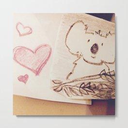 Love koalas Metal Print