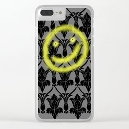 Sherlock smiling wall Clear iPhone Case