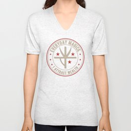 I Attract Wealth activated magickal sigil for making money tshirt gift Unisex V-Neck