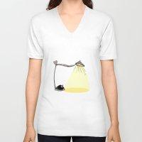 cartoon V-neck T-shirts featuring CARTOON LAMP by d.ts