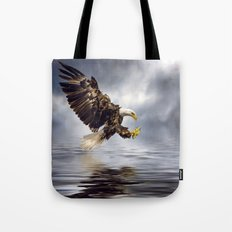 Young Bald Eagle Swooping Tote Bag