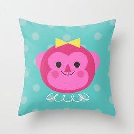 Dressy Monkey Throw Pillow