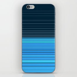 The ocean, abstract horizontal linework in blue. iPhone Skin