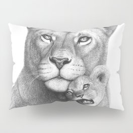 Lioness with a baby Pillow Sham