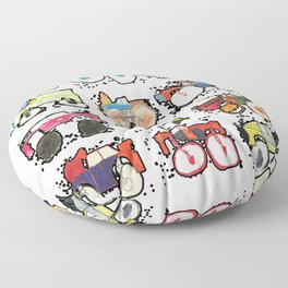 Monster Truck Kid Art by Tucker Floor Pillow