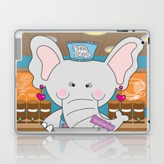 Elsa in the Coffee Shop  - Fun, sweet, creative and colorful, original,digital children illustration Laptop & iPad Skin