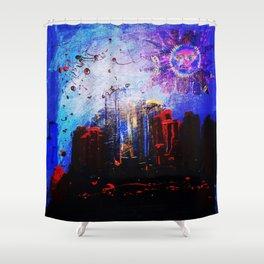 City Moon Shower Curtain