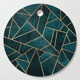 Deep Teal Stone Cutting Board