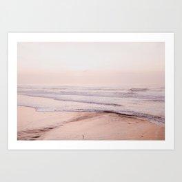Dreamy Pink Pacific Beach Art Print