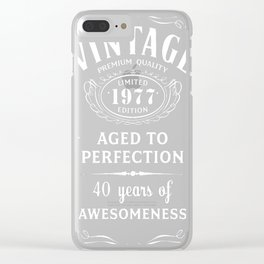 Vintage Limited 1977 Edition - 40th Birthday Gift Clear iPhone Case