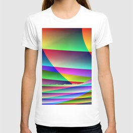 Lonely colorful cow T-shirt