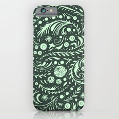 Mint Flora Swirl iPhone 6s Slim Case