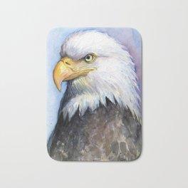 Bald Eagle Watercolor Bird Wildlife Animals Bath Mat