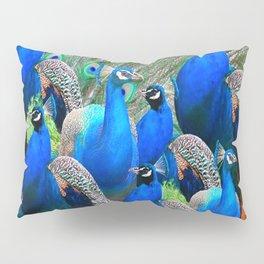 FLOCK OF BLUE PEACOCKS Pillow Sham