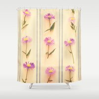 army Shower Curtains featuring Flower Army by Paula Belle Flores