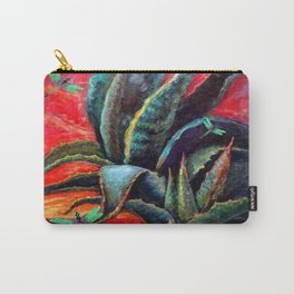 SOUTHWEST DESERT AGAVE & BLUE DRAGONFLIES Carry-All Pouch