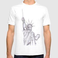 C3PO Liberty MEDIUM White Mens Fitted Tee