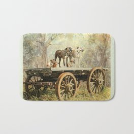 Country Dogs Bath Mat