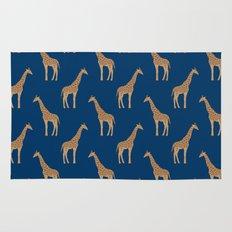 Giraffe african safari basic pattern print animal lover nursery dorm college home decor Rug