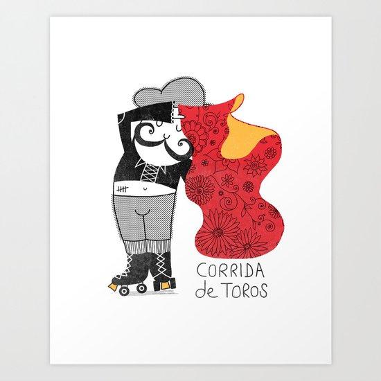 Hernando loves being a Matador Art Print