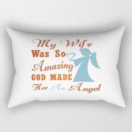 My Wife is an Angel Rectangular Pillow