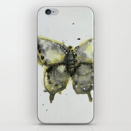 Yellow and Gray Butterfly iPhone Skin