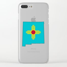 Turquoise New Mexico Clear iPhone Case