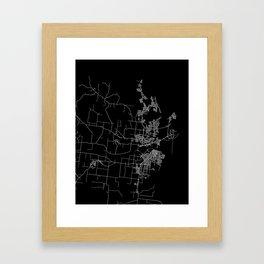 Mackay map Australia Framed Art Print