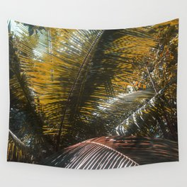 Into the Seychellian leaves Wall Tapestry