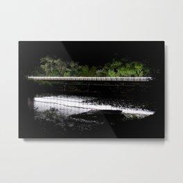 Bridge in the Dark Metal Print