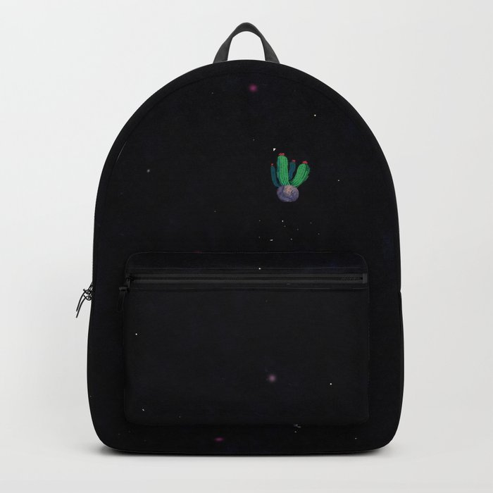 green cactu in the space Backpack