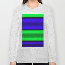 Green & Blue Horizontal Stripes Long Sleeve T-shirt