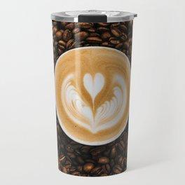 Coffee Beans & Coffee Cup Travel Mug