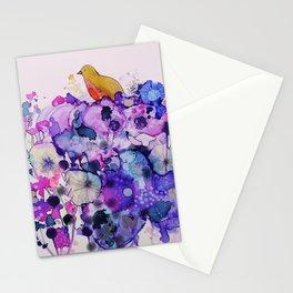 purple peace Stationery Cards