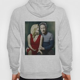 Gillian Anderson and David Duchovny painting Hoody