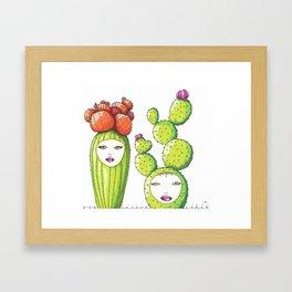 Succulent Ladies Framed Art Print