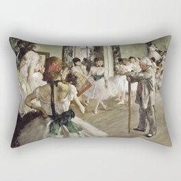 Edgar Degas - The Ballet Class Rectangular Pillow