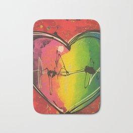 Colorful love Bath Mat