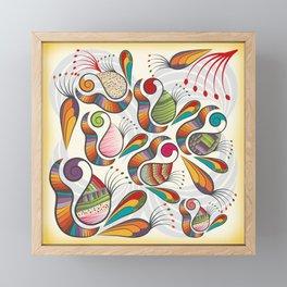 Pattern Framed Mini Art Print