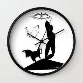 Cubism inspiration Wall Clock