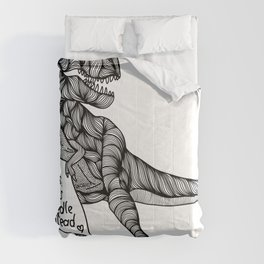 T-Rex hates hugs Comforters