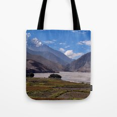 Fields near Kagbeni Tote Bag