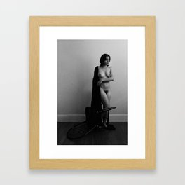 Woman and Chair Framed Art Print