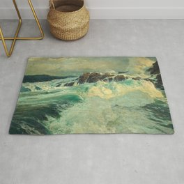 Roaring Main by Frederick Judd Waugh Rug