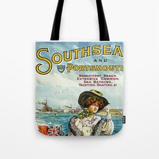 Vintage Southsea Portsmouth England Travel Tote Bag