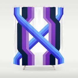 Indigo Violet Geometric Rainbow Shower Curtain