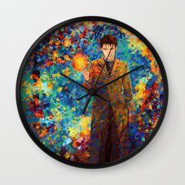 10th Doctor with screwdriver abstract art Wall Clock