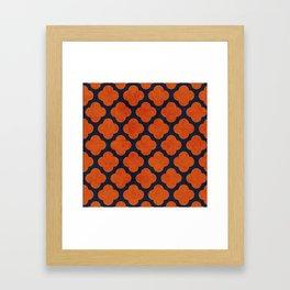 navy and orange clover Framed Art Print