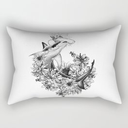 temporary design shark Rectangular Pillow